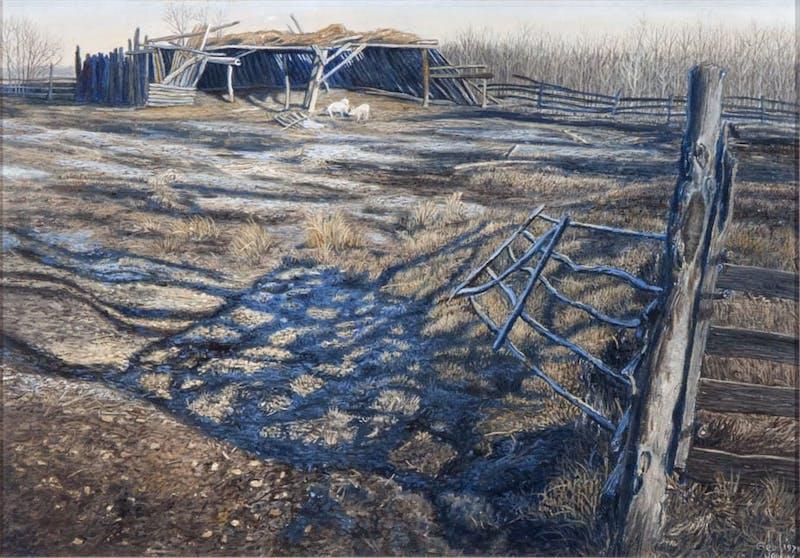 Frost Receding by George Jenkins, 1979 Oil on Panel - (9.25x13.5 in)