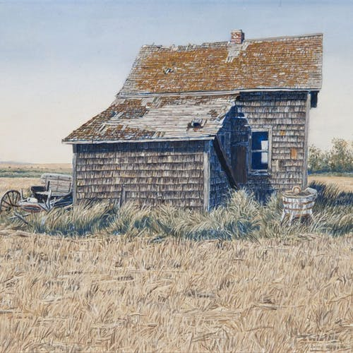 August Afternoon by George Jenkins, 1979 Oil on Panel - (9.5x13.5 in)