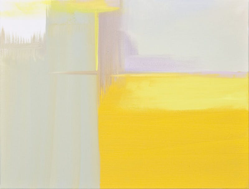 Flourescent Yellow Abstract
