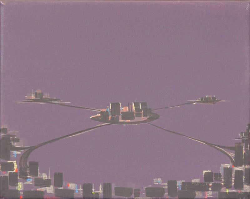 Satellite Cities, Mauve Night Image 1