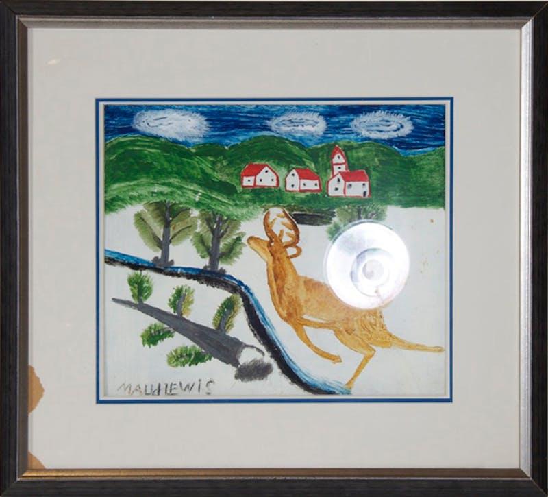 Deer Running Through Landscape Image 2