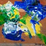 La Maquis by Hans Hofmann, 1962 Oil on Panel - (9.75x11 in)