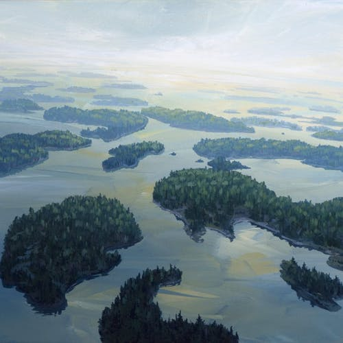 Islands, LOTW (South of Crow Rock) by Randolph Parker, 2014 Acrylic on Canvas - (16x20 in)