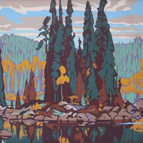 Isles of Spruce by Arthur Lismer Sampson-Matthews Silkscreen - (27.75x38.875 in)