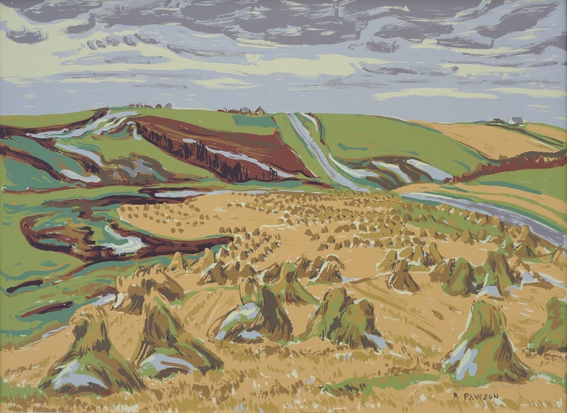 Autumn Harvest by Ruth May Pawson Sampson-Matthews Silkscreen - (19.625x28.375 in)
