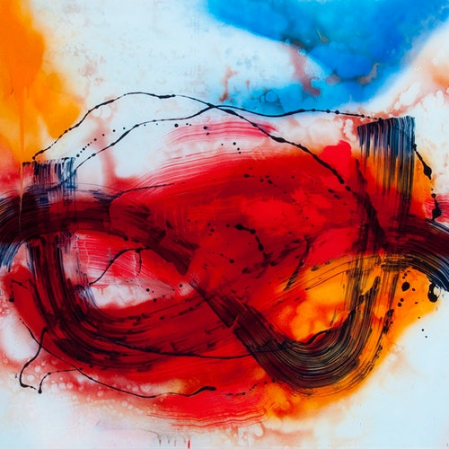 Atmospheric by Rand Heidinger, 2015 Lacquer Paint on Polymer - (36x48 in)