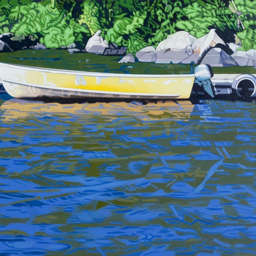 Lund At Lake Brereton by Luther Pokrant, 2015 Oil on Canvas - (24x32 in)