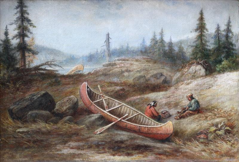 Indians Portaging Image 1