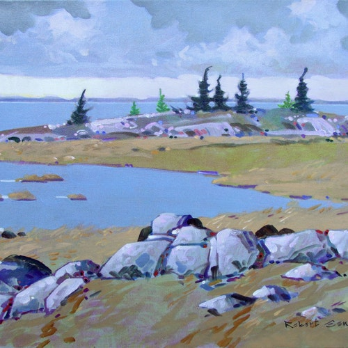 Peninsula, Parry Sound, ON by Robert Genn, 1991 Acrylic on Canvas - (16x18 in)