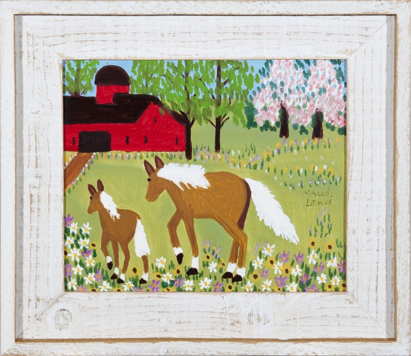 Mare and Foal in Spring Meadow Image 1