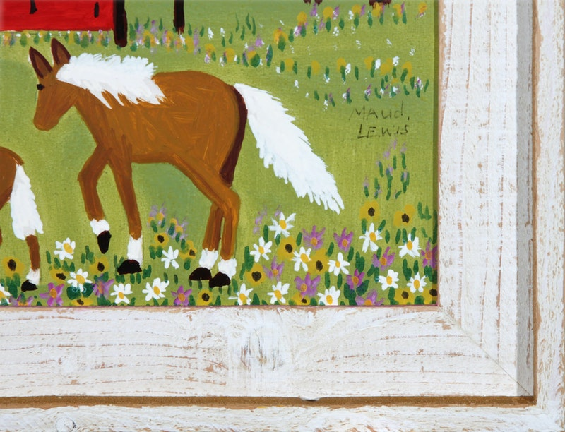 Mare and Foal in Spring Meadow Image 3