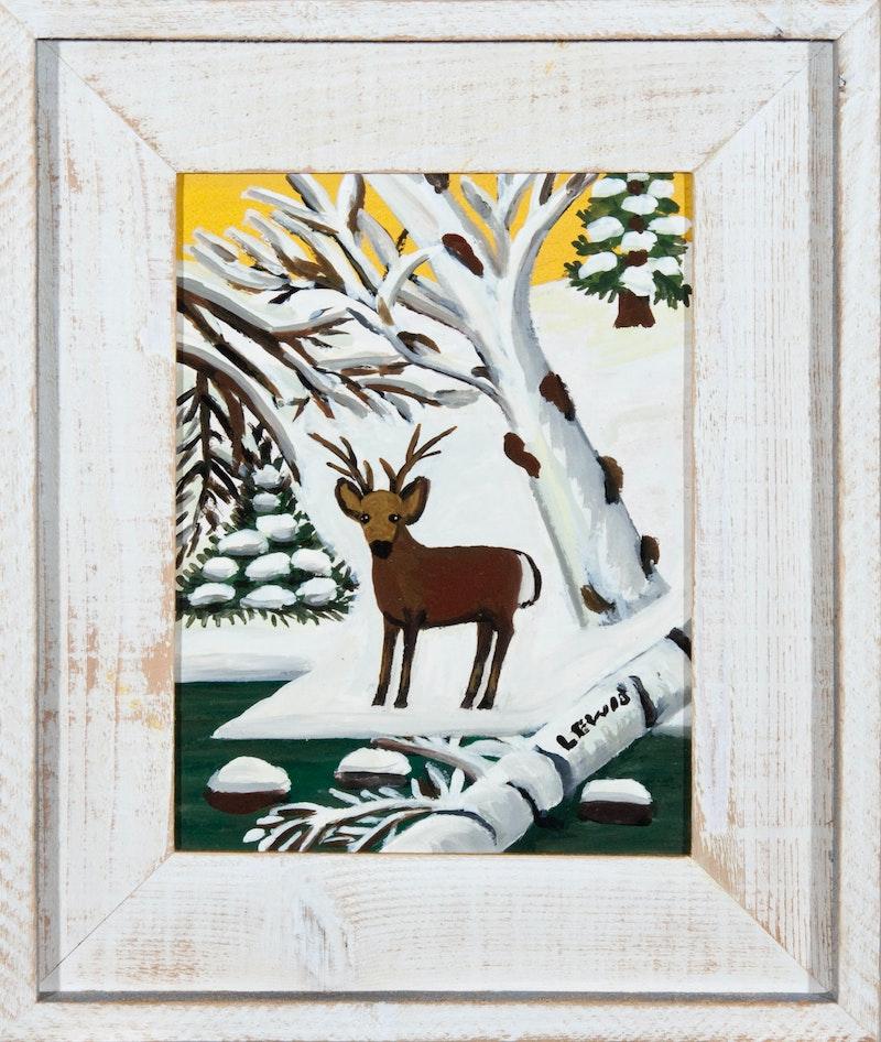 Deer in Winter (Buck at Waters Edge) Image 2