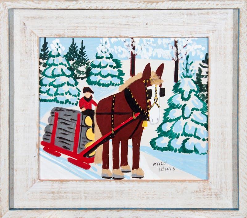 Horse Hauling Logs Image 1