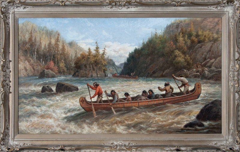 Indians Shooting the Rapids Image 2