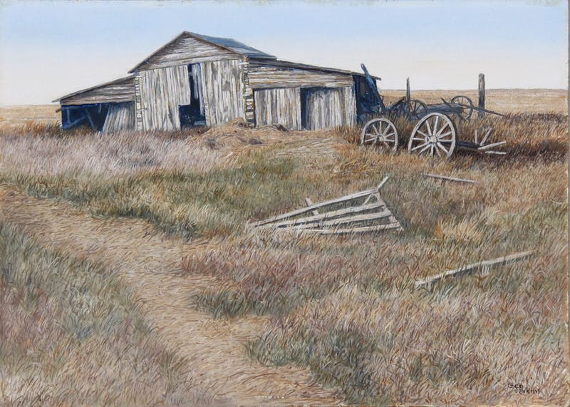 Wind Racked by George Jenkins, circa 1980 Oil on Panel - (9.75x13.75 in)