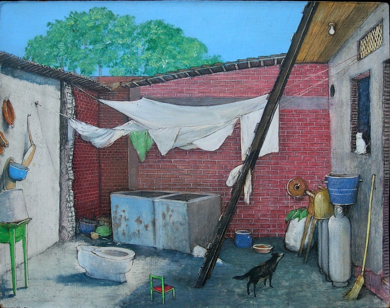 A Poor Mexican Courtyard Image 2