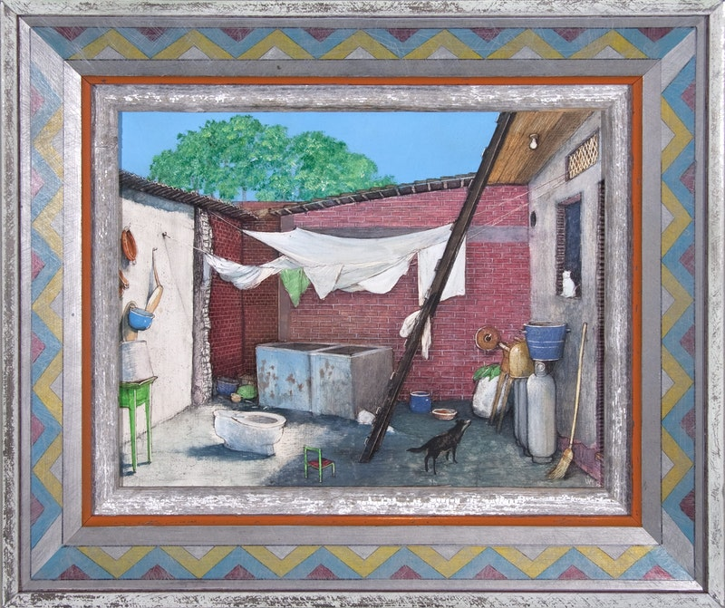 A Poor Mexican Courtyard Image 1