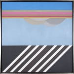 Passing Summer Cloud by Takao Tanabe, 1968 Acrylic - (34.25x34.25 in)