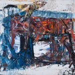 Forteresse by Jean Paul Riopelle, 1962 Oil on Canvas