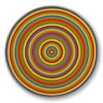 Accelerateur Chromatique by Claude Tousignant, 1967 Acrylic on Canvas - (33.2x cm)