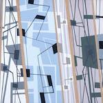 Les-Quanta-De-La-Mecanique by Jean-Paul Jerome, 1975 Acrylic on Canvas - (13.5x18.5 in)