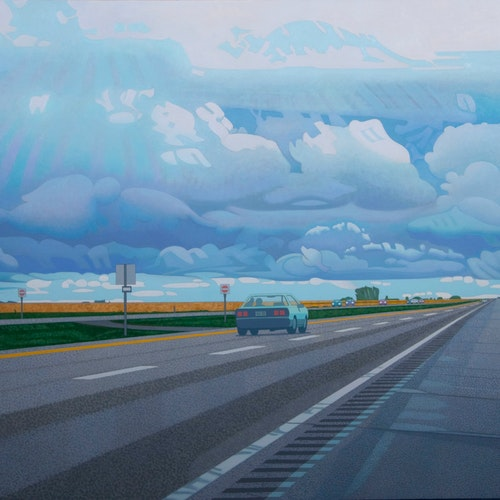 West to Regina by Luther Pokrant, 2016 Oil on Canvas - (44x60 in)