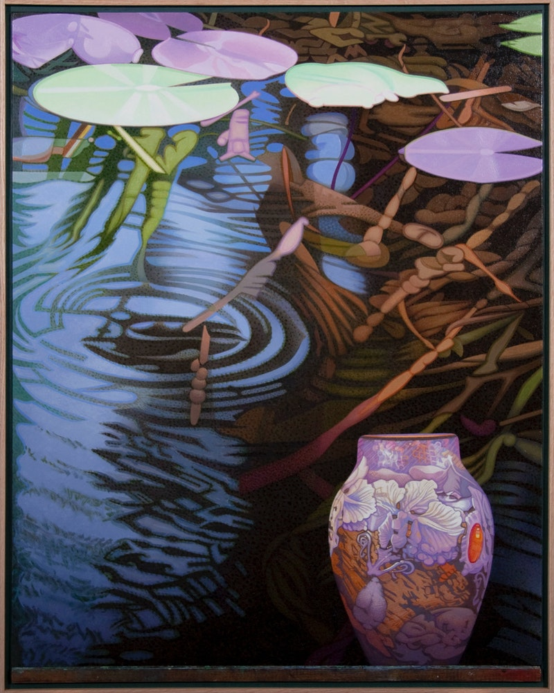 Water Garden With Vase (After Emile Galle)
