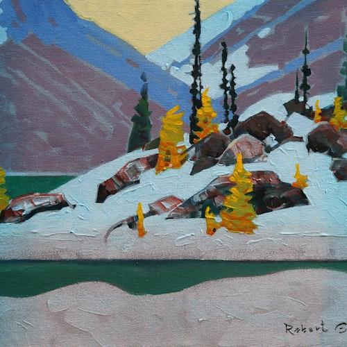 Two Hours at Tamarack Glen Bugaboos by Robert Genn, circa 2013 Acrylic on Canvas - (11x14 in)