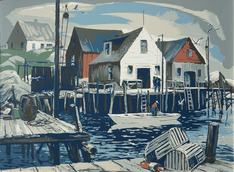 Fish Houses, Indian Harbour N.S. Image 1