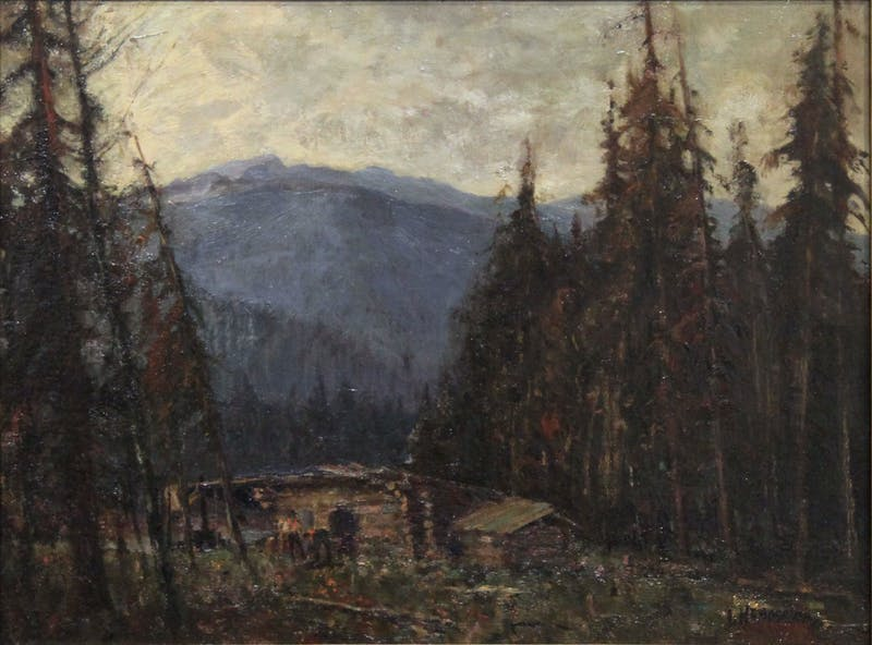 Untitled (Cabin in Mountain Landscape) Image 1