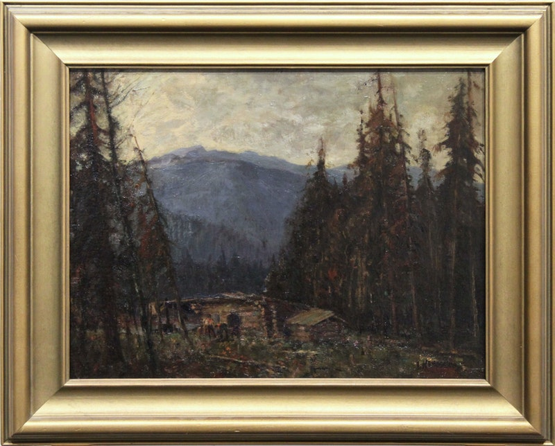 Untitled (Cabin in Mountain Landscape) Image 2