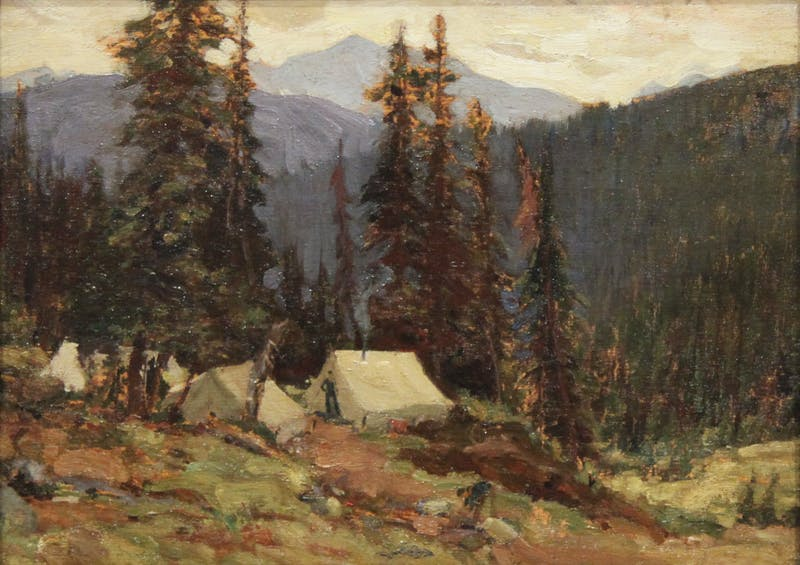 Untitled (Tent in Mountain Landscape)