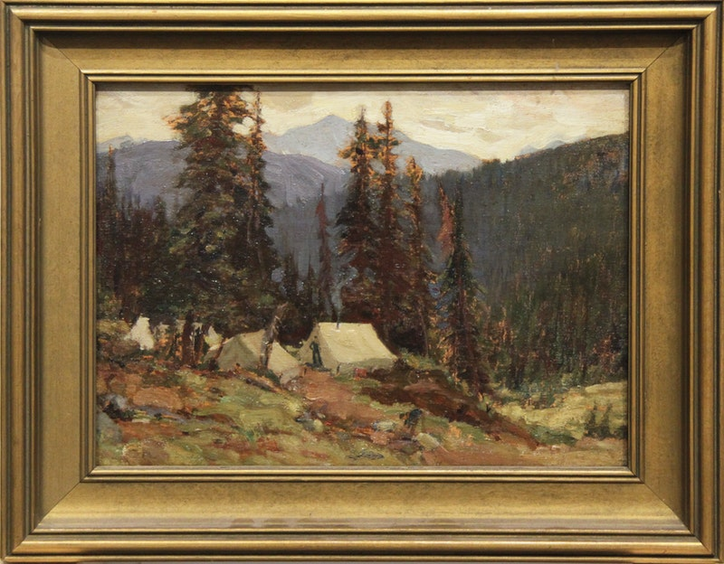 Untitled (Tent in Mountain Landscape) Image 2