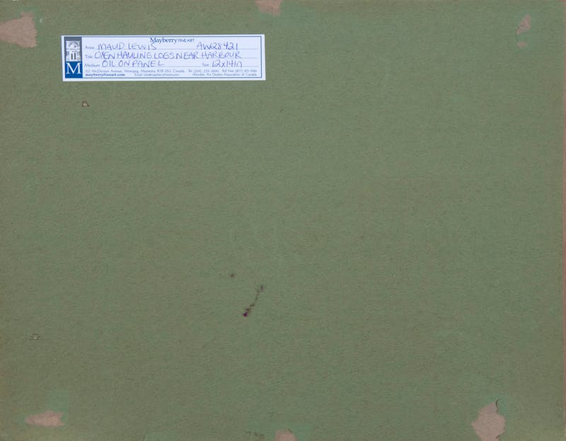 Oxen Hauling Logs Near Harbour Image 2