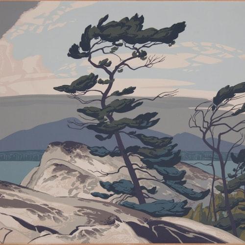 White Pine by Alfred Joseph Casson, circa 1948 Sampson-Matthews Silkscreen - (30x40 in)