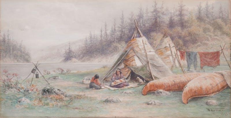 Ojibwa Wigwams, Lake Shebandowan Image 2