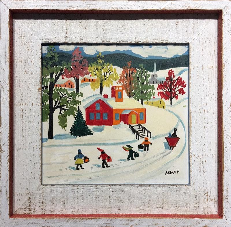 Winter Schoolhouse
