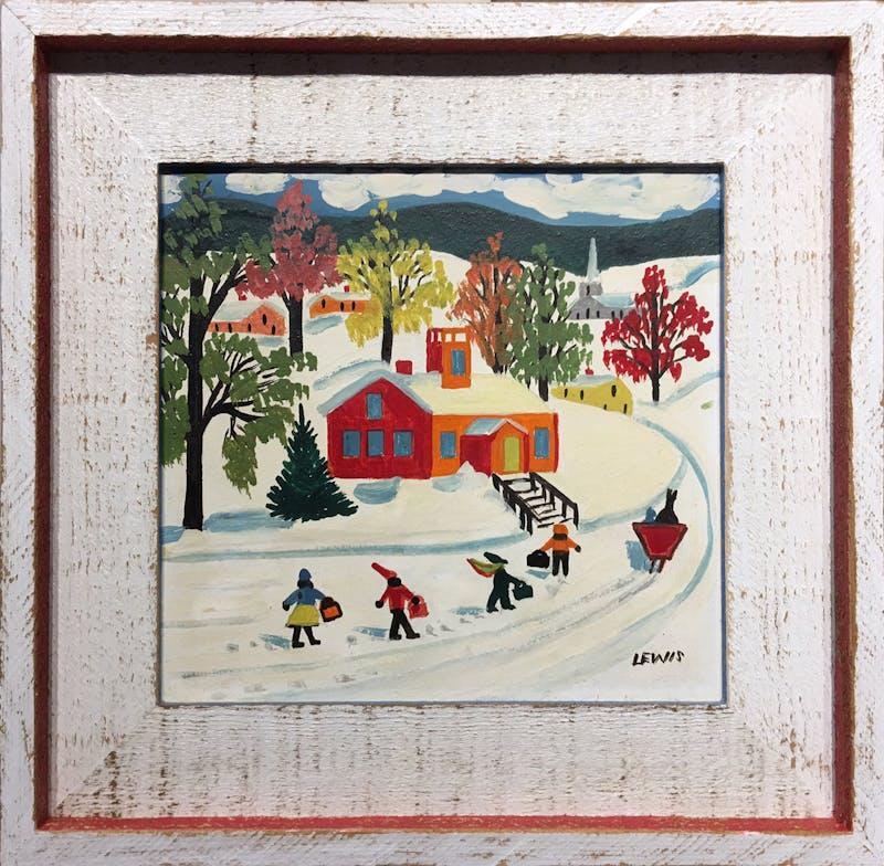 Winter Schoolhouse Image 1