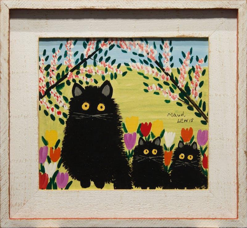 Black Cat, Two Kittens Image 4