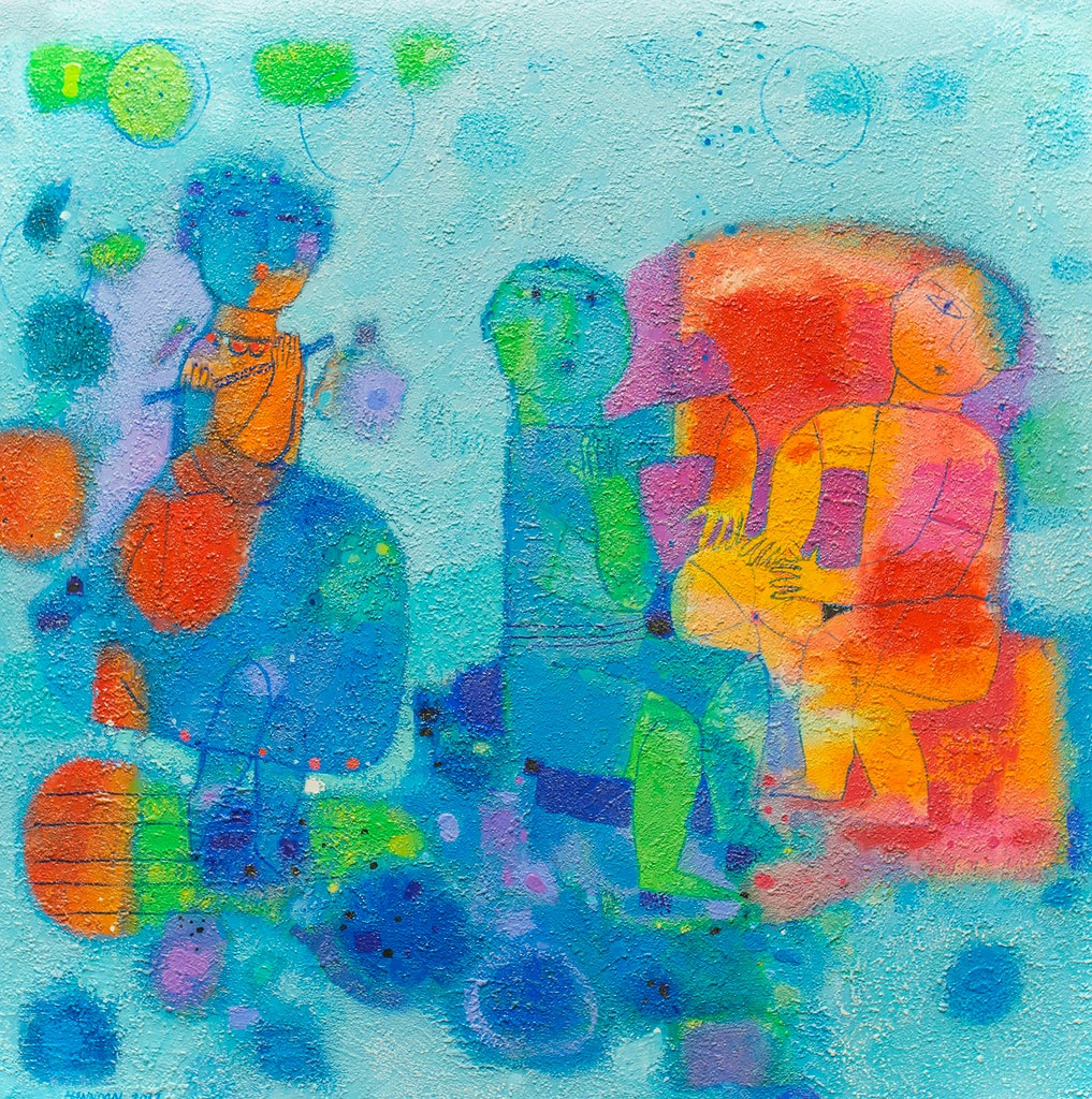 Groovin' by Hashim Hannoon Acrylic - (36x36 in)
