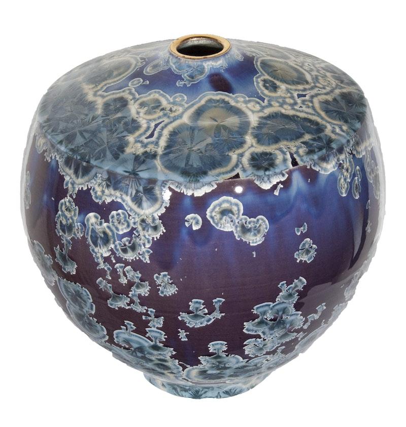 Blue and Purple Vase (Anvil Shape) Image 1