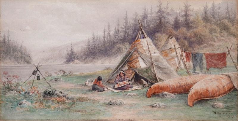 Ojibwa Wigwams, Lake Shebandowan