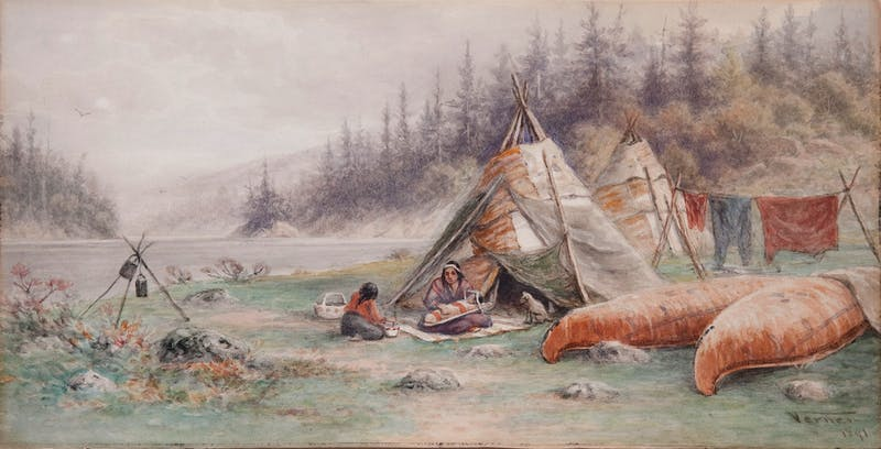 Ojibwa Wigwams, Lake Shebandowan
