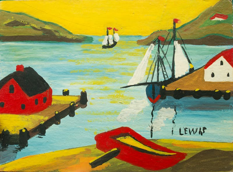 Harbour Scene with Boat Image 1