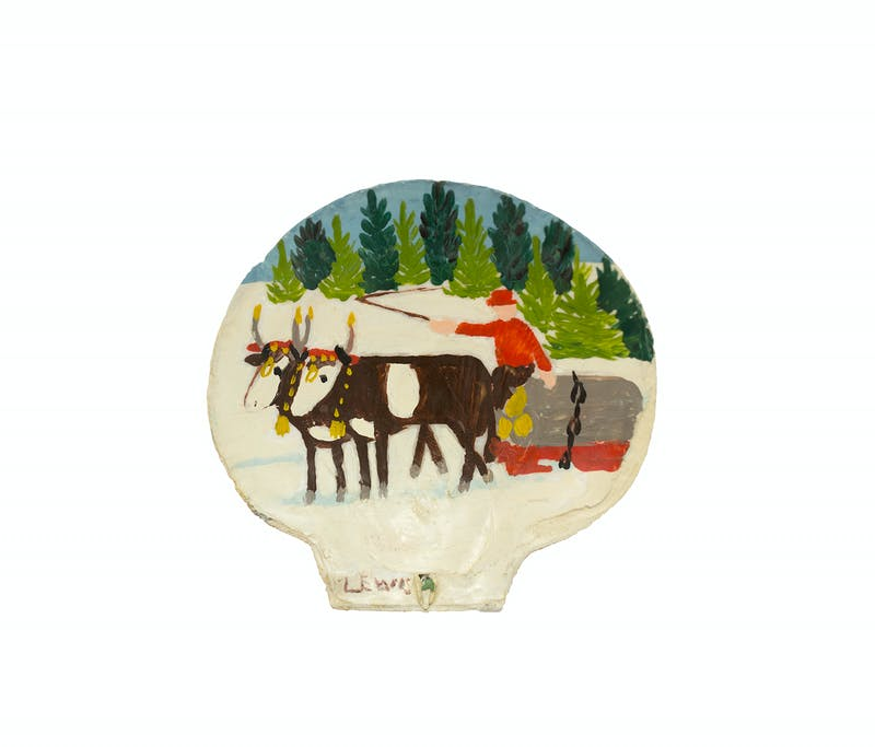 Clam Shell 4-Two oxen sleigh Image 3