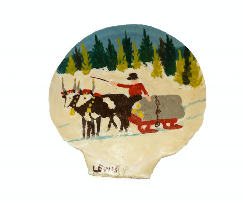 Clam Shell 1-Two oxen and sleigh Image 3