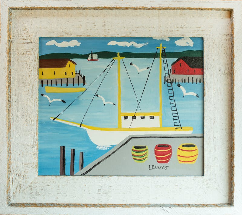 Harbour with Sailboat Image 1