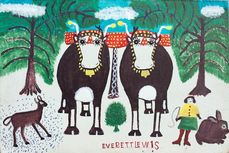 Winter Oxen Image 2