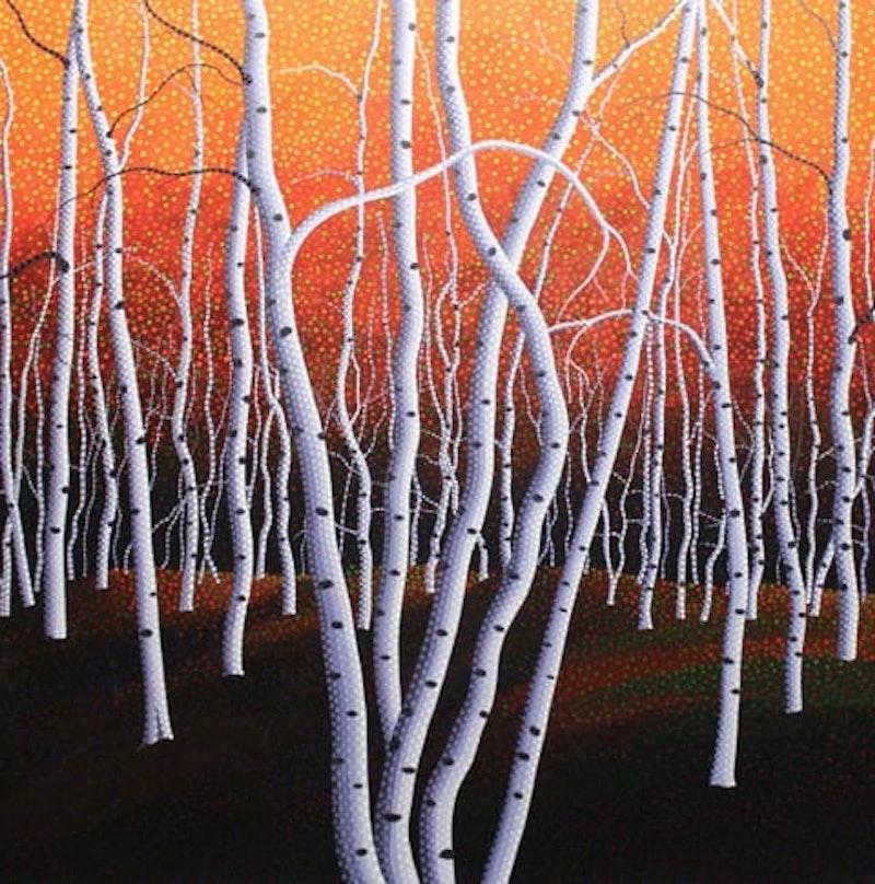 Evening Birches Image 1