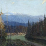 Meeting of Two Rivers by James Henderson Oil on Canvas - (24x30 in)